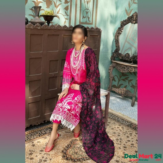 Gulzar Printed Unstitched Lawn Collection D-GN 01
