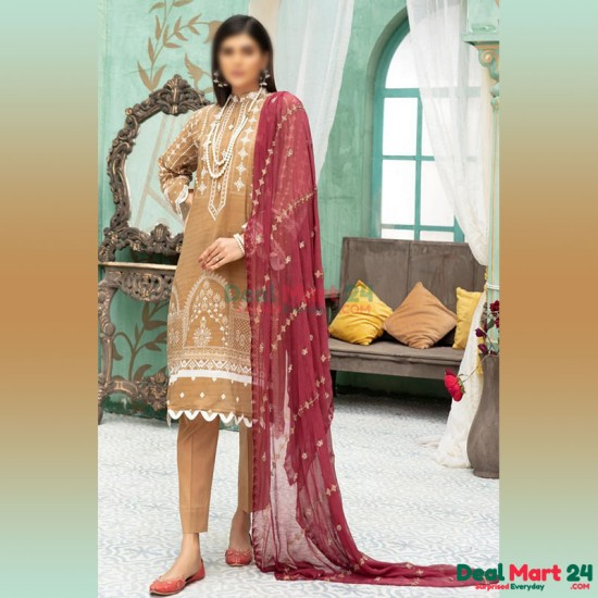 Gulzar Printed Unstitched Lawn Collection D-GN 12